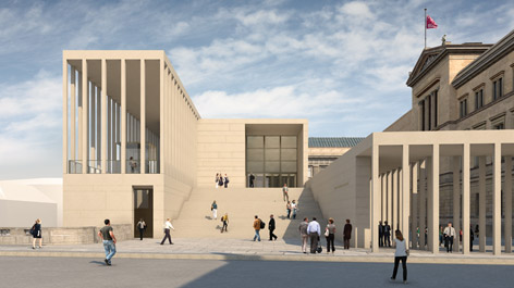 3D visualization of the future entrance building to the Museumsinsel (Opens a Larger Version of the Image)