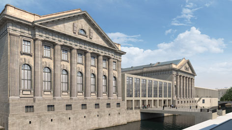 3D visualization of the future Pergamonmuseum with its fourth wing (Opens a Larger Version of the Image)