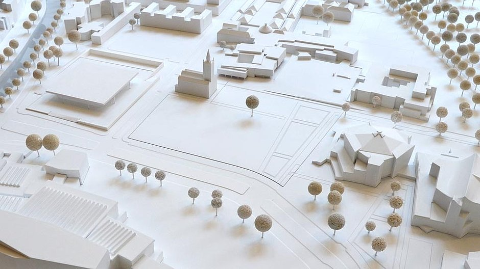 An architectural model of the Kulturforum