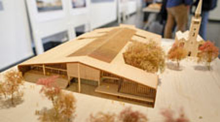 Holzmodell des Museums