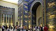 Visitors in from of the Ishtar Gate in the Pergamonmuseum