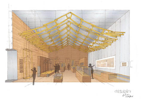 Wang Shu: Design sketch for the Imperial China section in the Humboldt Forum, 2014
