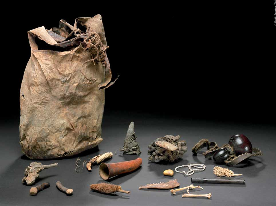 Bag with 96 medicinal objects owned by a healer from Mohoro.