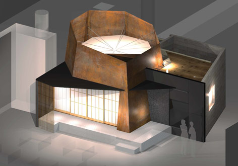 Visualization of the new tea house in the Humboldt Forum
