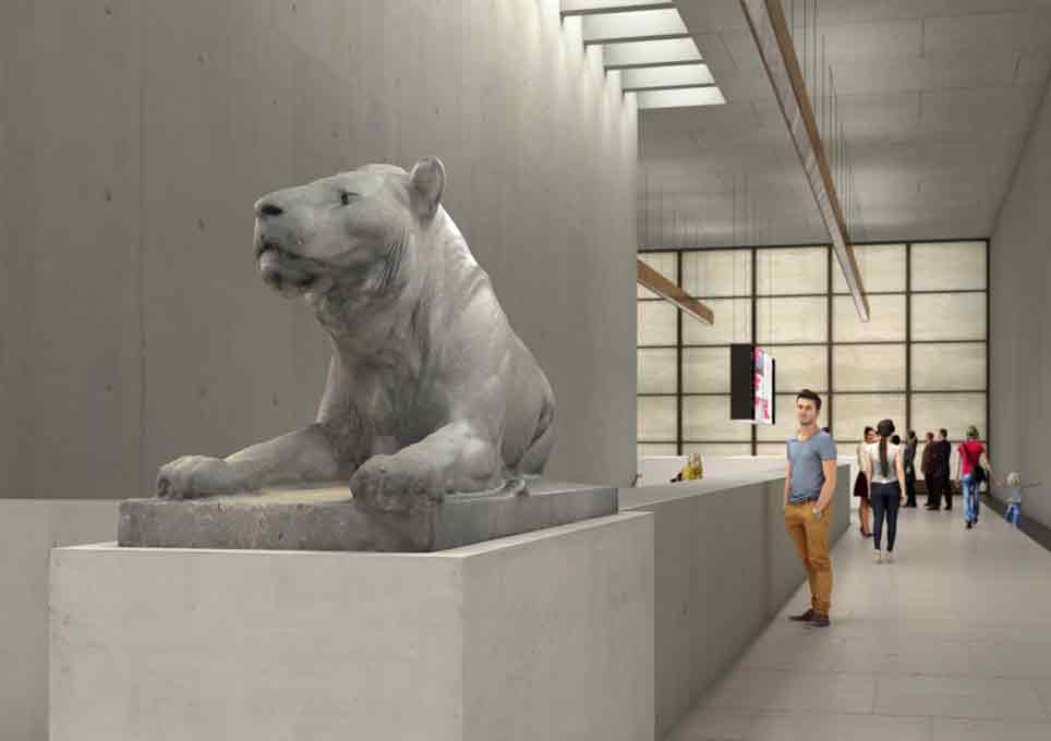 The Mosse lion will welcome visitors to Museumsinsel in the James Simon Gallery starting in summer 2019.