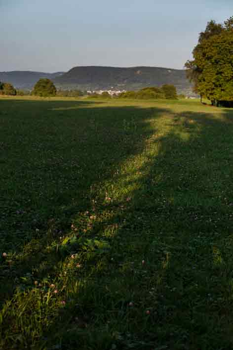Once the landing strip, now a green meadow