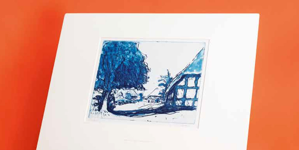 "E. L. Kirchner ""Fehmarn Houses with Large Tree"""