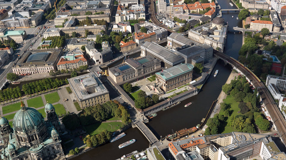Aerial photograph of the Museum Island Berlin